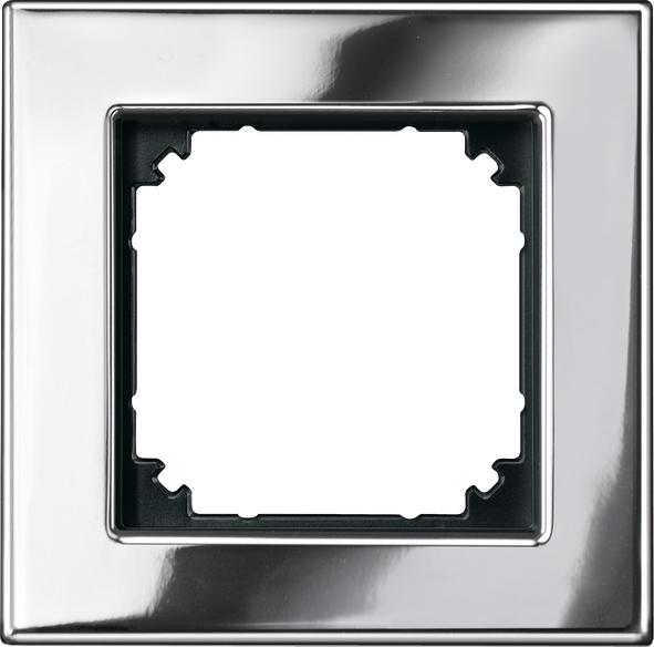Merten System M M-Plan Echtmetall Chrom