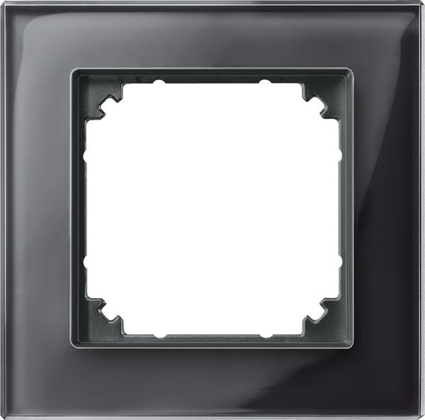 Merten System M M-Plan Echtglas Onyxschwarz