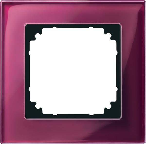 Merten System M M-Plan Echtglas Rubinrot