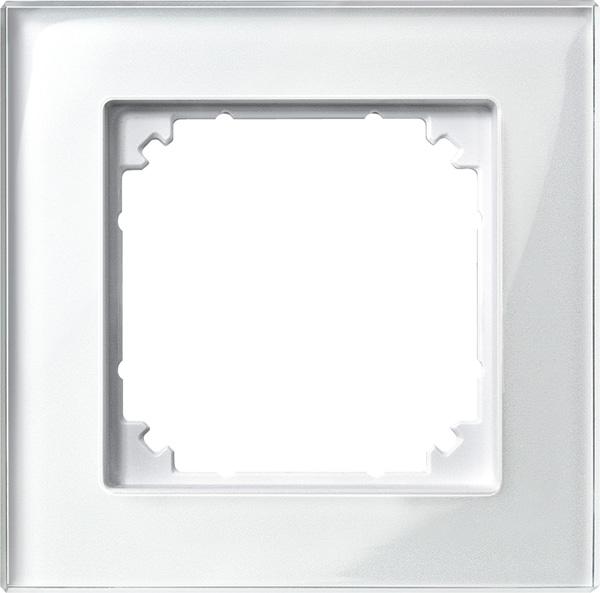 Merten System M M-Plan Echtglas Brillantweiß