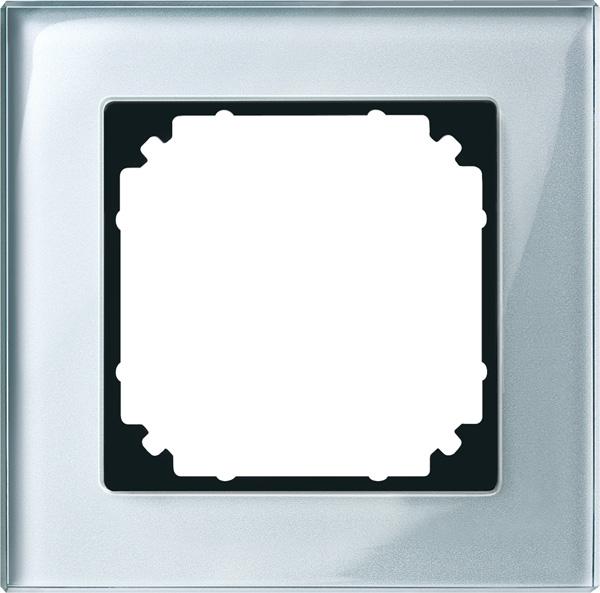 Merten System M M-Plan Echtglas Diamantsilber