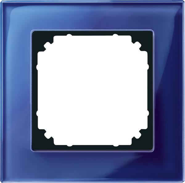 Merten System M M-Plan Echtglas Saphirblau