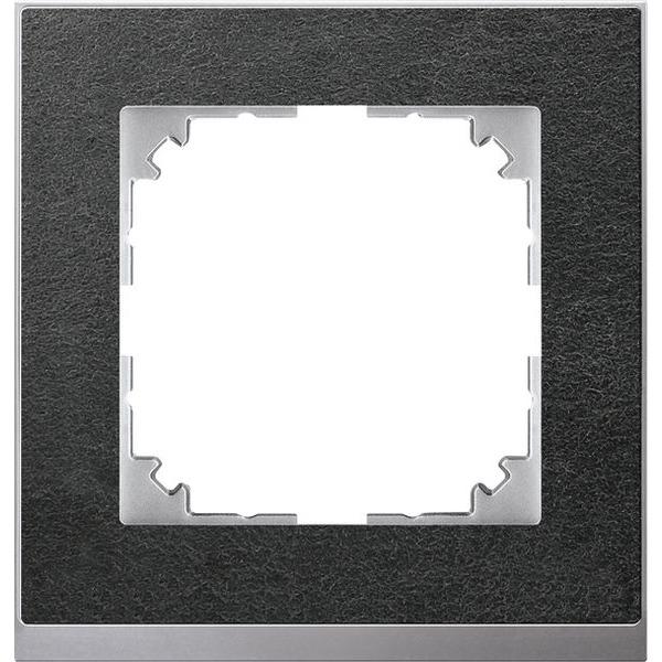 Merten System M M-Pure Decor Schiefer / Aluminium