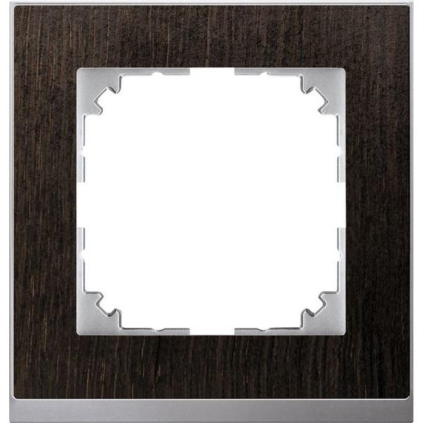 Merten System M M-Pure Decor Wenge / Aluminium