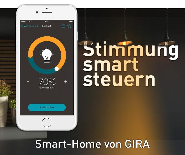 elektro wandelt gira smart home stimmung mit enet smart steuern online kaufen. Black Bedroom Furniture Sets. Home Design Ideas